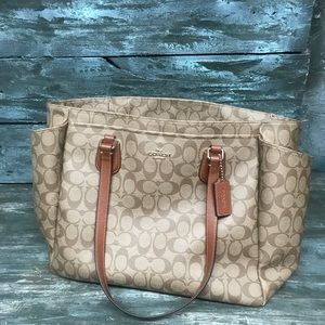 Coach diaper bag or could be used as a purse.